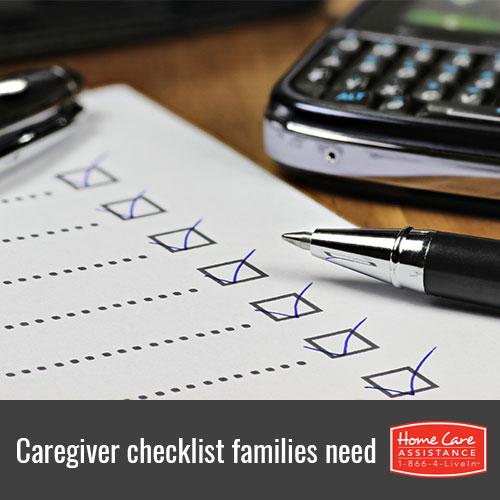 Checklist For Family Caregivers
