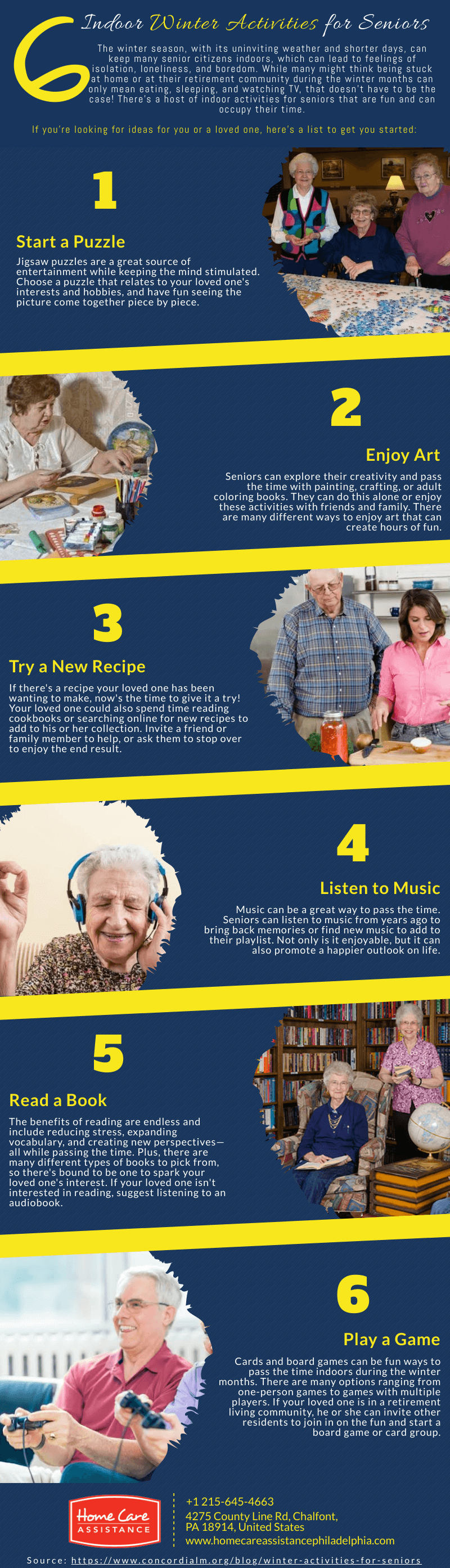6 Indoor Winter Activities for Seniors [Infographic]